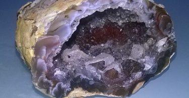 geode in calcedonio blu